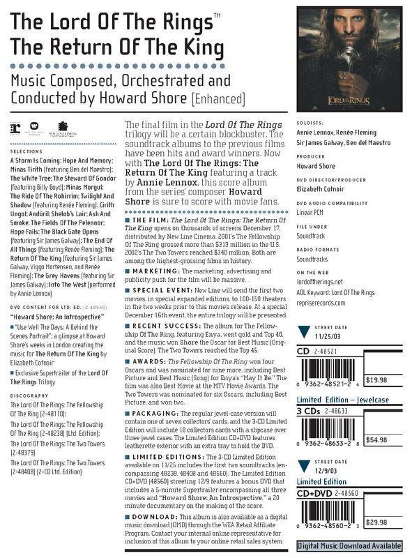 Return of the King Soundtrack Info! - 591x800, 155kB