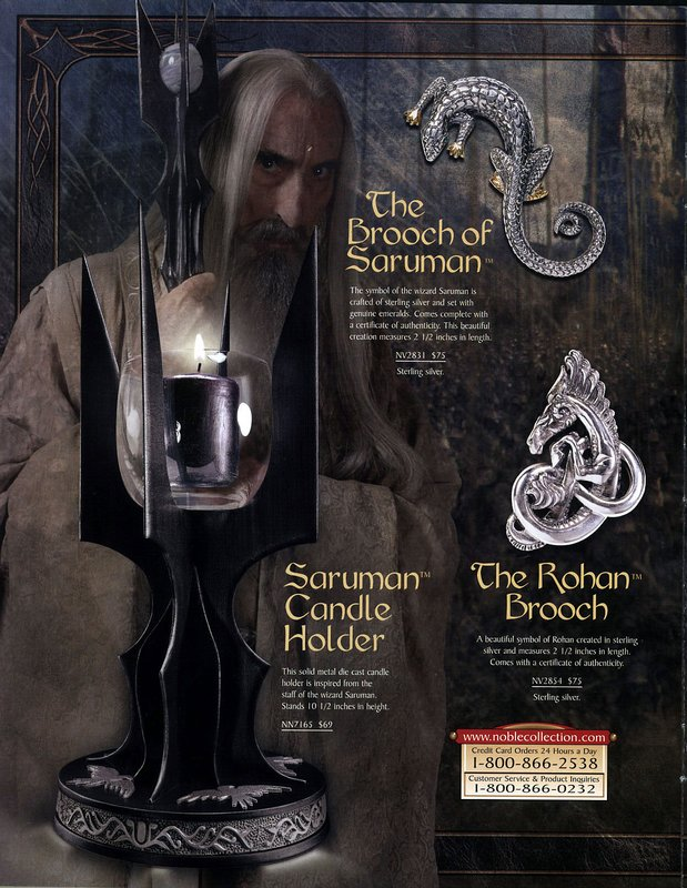 Noble Collection 2003 Lord of the Rings - 619x800, 124kB