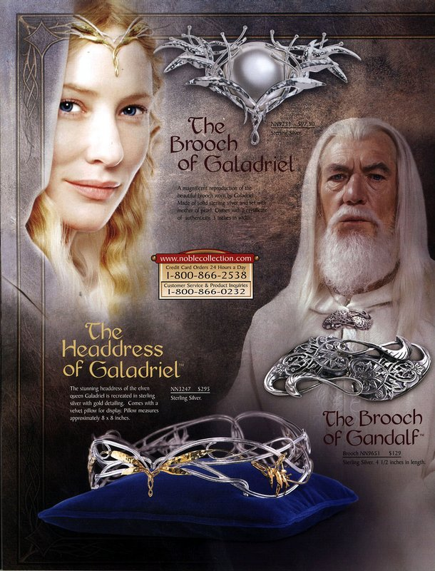 Noble Collection 2003 Lord of the Rings - 610x800, 133kB