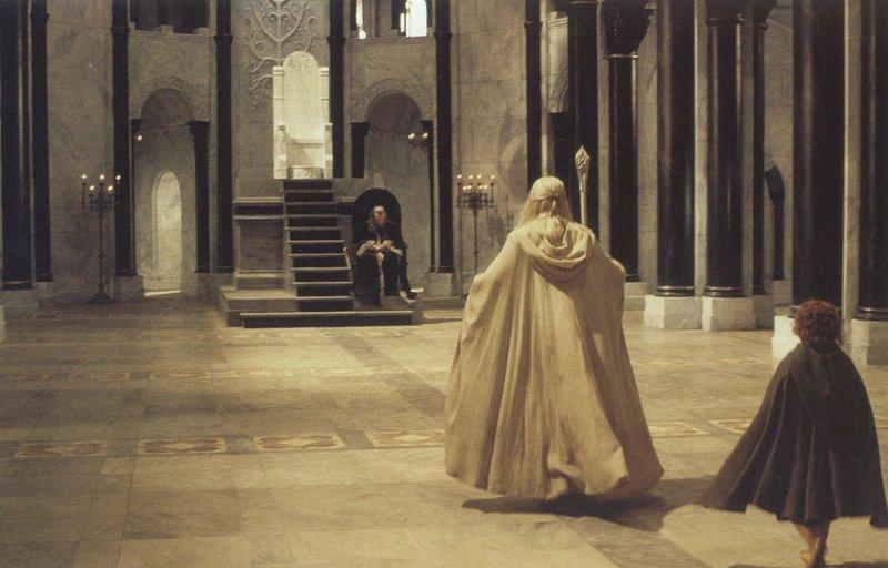 Gandalf, Pippin and the Steward - 800x512, 79kB