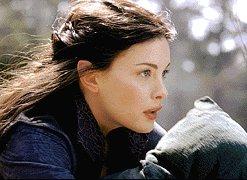 Arwen and Hobbit - 247x180, 15kB