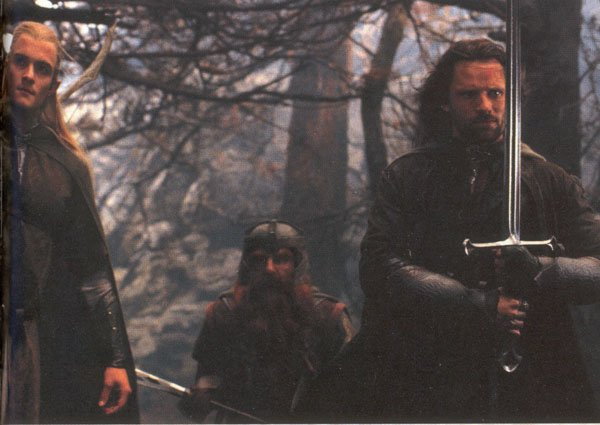 Aragorn, Gimli and Legolas - 600x425, 46kB