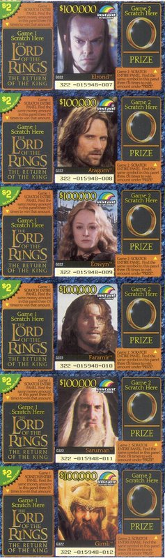 LOTR Instant Win Scratch Cards - 237x800, 74kB
