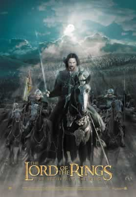 Aragorn and Brego: Return of the King postcard - 278x400, 12kB