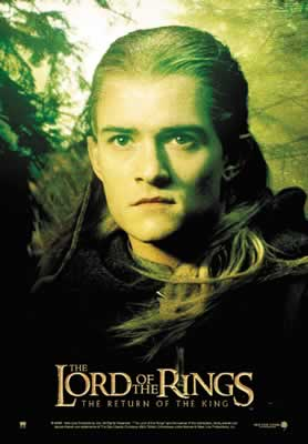 Legolas: Return of the King Postcards - 278x400, 13kB