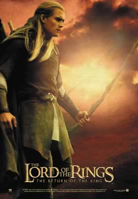 Legolas: Return of the King Postcards - 278x400, 11kB