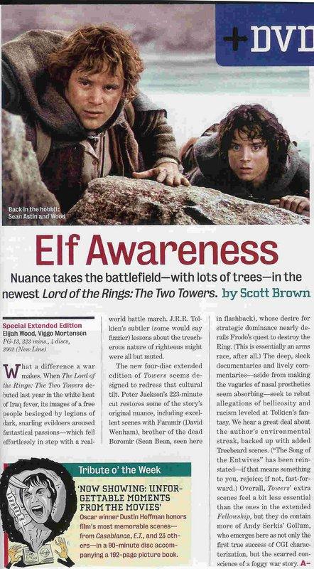 Entertainment Weekly: Elf Awareness - 442x800, 125kB