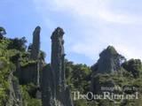 Putangirua Pinnacles From Streambed - (800x600, 84kB)