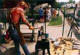 Blacksmith Chaz Kaiser of Batesville, Indiana at work - (432x300, 44kB)