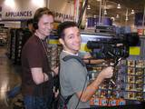 "The ""Ringers: Lord of the Fans"" crew members John and Josh hard at work. - (800x600, 130kB)"