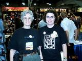 Volunteers from Tolkien Society at Comic-Con 2001 - (640x480, 106kB)