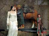 Arwen comes to the rescue of Frodo, Sam and Bill the Pony - (800x600, 128kB)