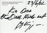 Viggo Mortensen Signs Card for TORN! - (400x280, 31kB)