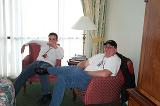 Corvar and Andy Relax at Dragon*Con - (800x531, 62kB)
