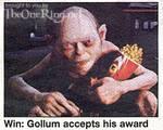 Gollum Accepts His MTV Movie Award - (313x249, 29kB)