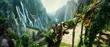 Rivendell Matte Painting - (800x340, 93kB)