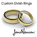 View Custom Engravable Elvish Rings and Wedding Sets.