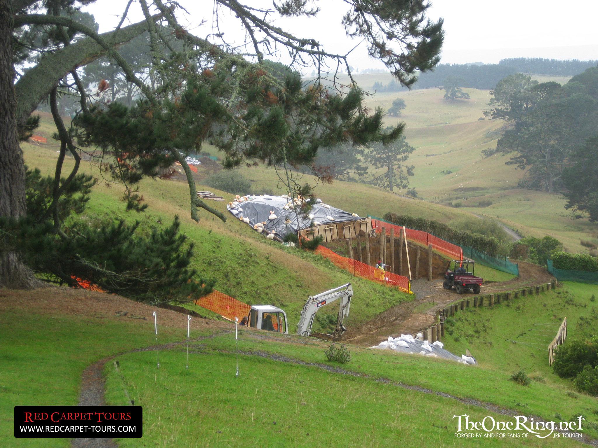 Hobbiton Construction Photos Hobbit Movie News And