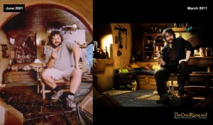 Peter Jackson Then and Now - Hobbit
