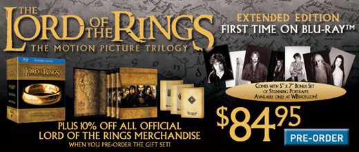 Lotr Extended Edition Blu Ray Extended Edition Blu-ray