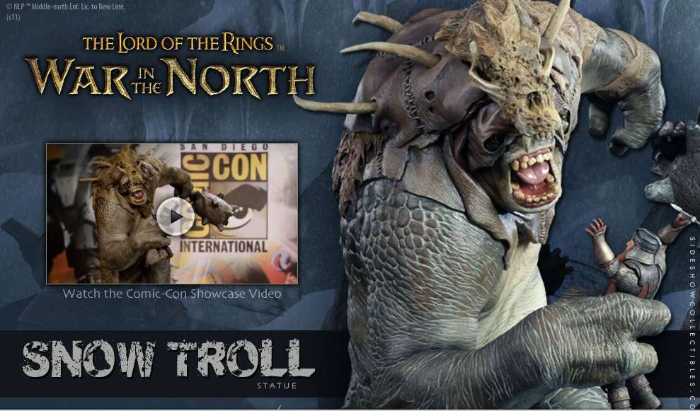 Sideshow Collectibles Reveals War in the North Snow Troll