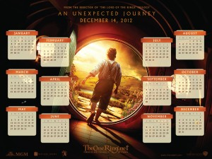 Hobbit Calendar 2012: Bilbo