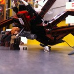 Sam stabs Shelob in the Shelob Attacks LEGO Set