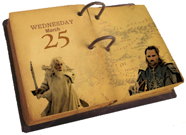 today in middle earth history calendar hobbit movie news and