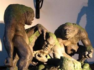 stone troll statues
