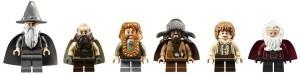 Left to Right: Gandalf, Dwalin, Bombur, Bofur, Bilbo and Balin