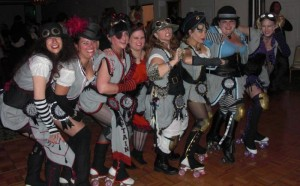 "Steampunk Roller Derby Team ""The Steamrollers"""