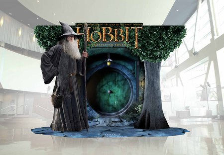 exclusive the hobbit theater standee revealed hobbit