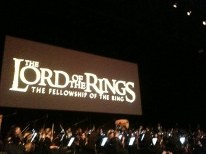 Fellowship of the Rings live with orchestra in Paris. October, 2012.