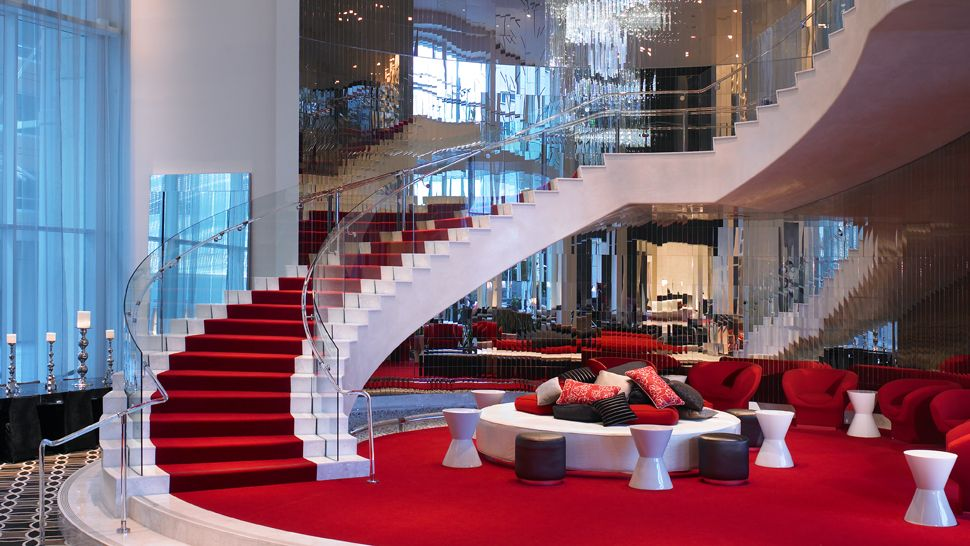 W hollywood lobby staircase hobbit movie news and rumors for Most luxurious hotel in los angeles