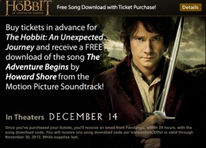 thehobbit tickets song