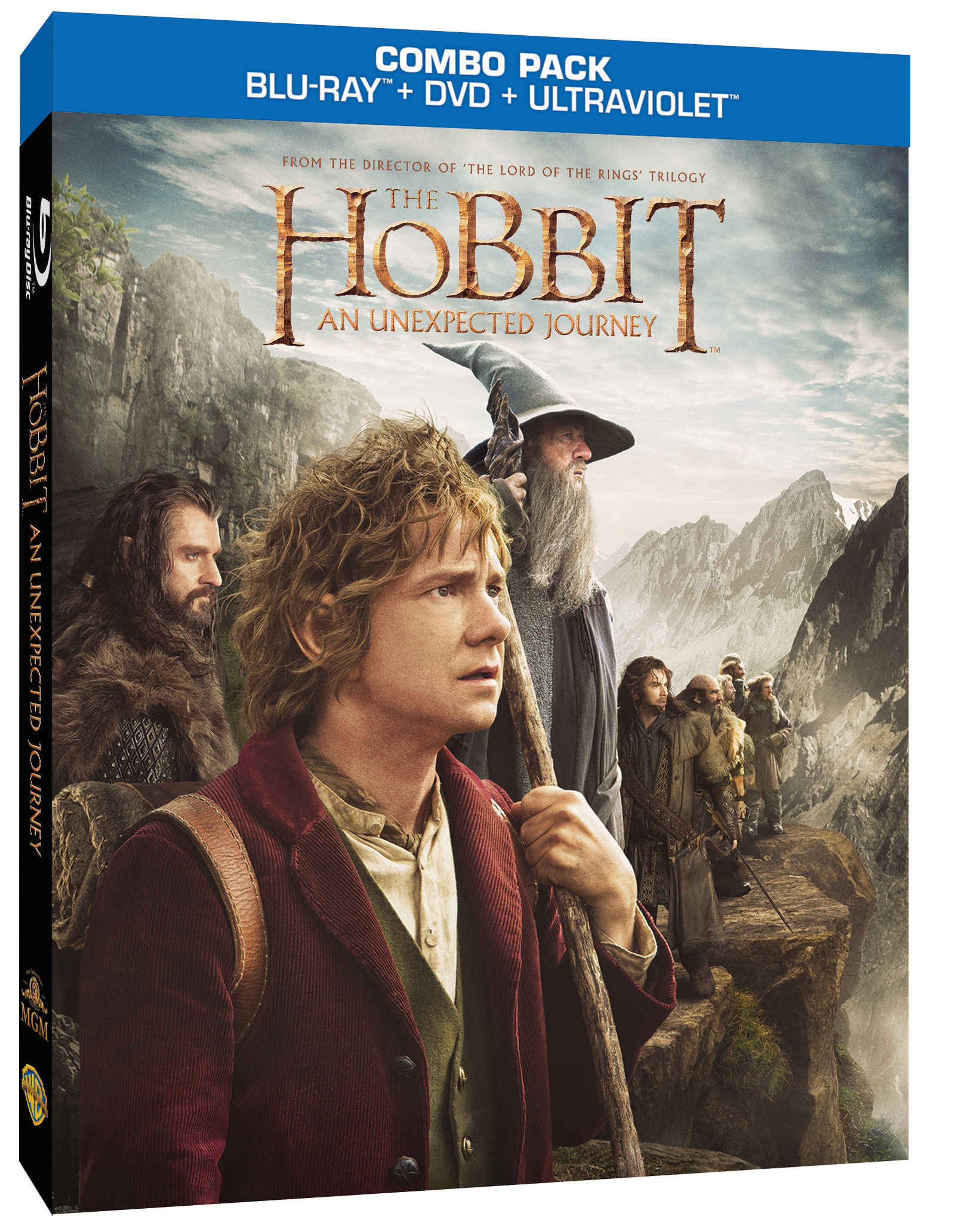 Own the hobbit: an unexpected journey on blu-ray combo pack 3/19.