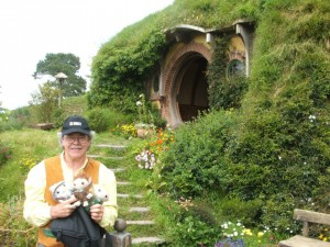 Peter and the Plushies visit Hobbiton