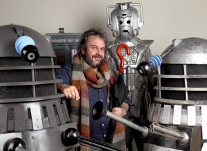Peter Jackson with his Doctor Who collection