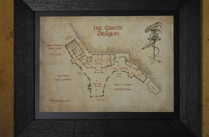 Floor plan on the wall of the Green Dragon of the Green Dragon.