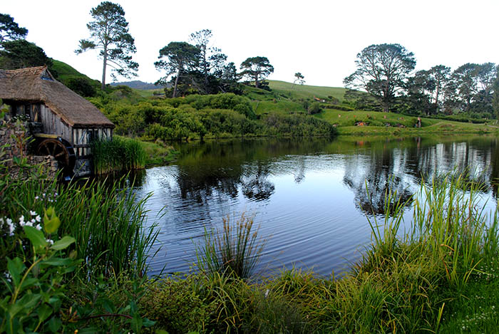 Water at Hobbiton Movie set