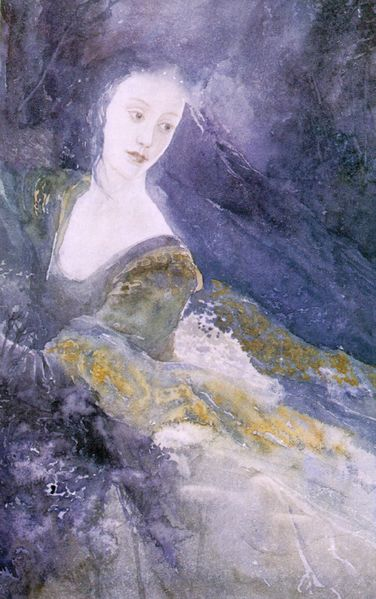 Luthien Tinuviel by Alan Lee.