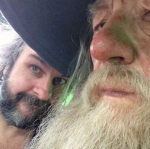 Peter Jackson and Ian McKellen started filming the last block for 'The Hobbit' Monday, May 20 in Wellington, New Zealand.