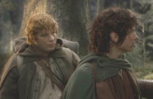 Sam and Frodo Lothlorien