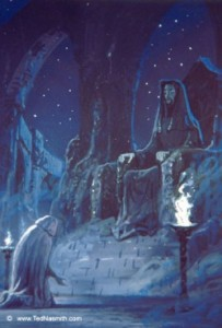 Ted Nasmith - Luthien's Lament Before Mandos