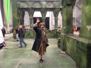 Martin Freeman waves goodbye on his last day as Bilbo Baggins.