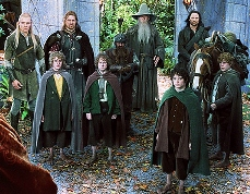 The main characters of the Fellowship of the Ring gather at the Council of Elrond.