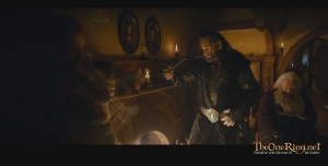 Fili and Thorin at Bag End. A slightly better angle. Screen taken from the clip below.