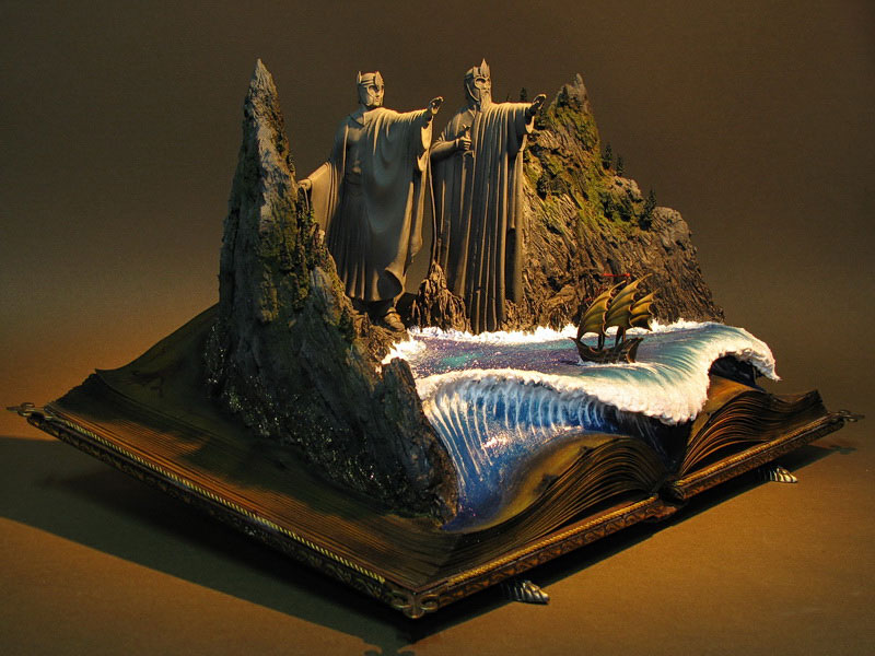 Check Out This Amazing Argonath Diorama Hobbit Movie
