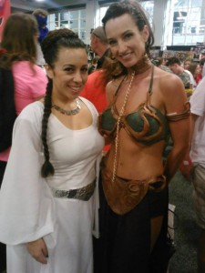 Two Princess Leia at SLCC 2013.
