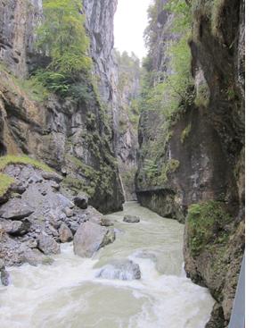 Aareschlucht gorge rapids